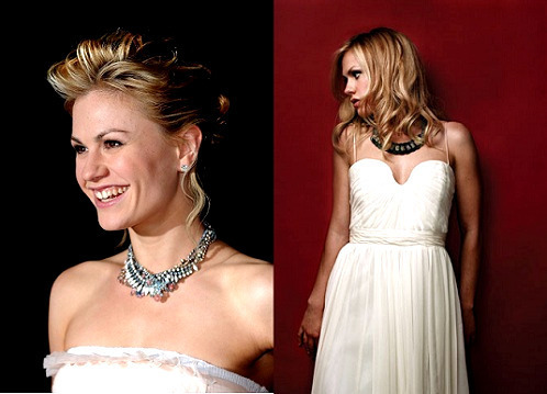 Anna Paquin wallpaper with a bridesmaid, a dinner dress, and a gown entitled Anna Paquin