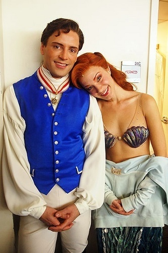 Ariel and Eric before a performance