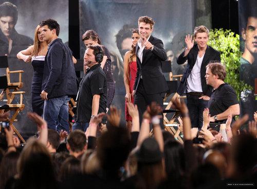 Ashley, Taylor and the Eclipse cast on Jimmy Kimmel Live!