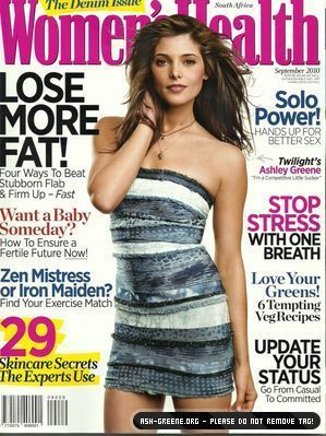 Ashley on Women's Health magazine cover (South Africa)