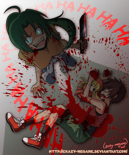 Higurashi no Naku Koro ni 壁纸 probably containing 日本动漫 called Awesome Higurashi Pics