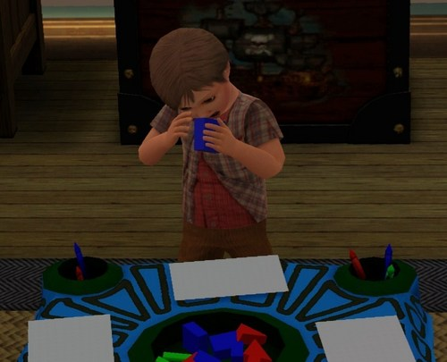 Baby Cole as a toddler