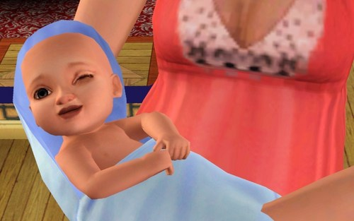 The Sims 3 wallpaper possibly with skin entitled Baby Cole