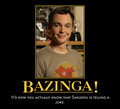 Bazinga - the-big-bang-theory fan art