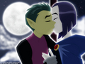 Beast Boy and Raven - funkyrach01 wallpaper