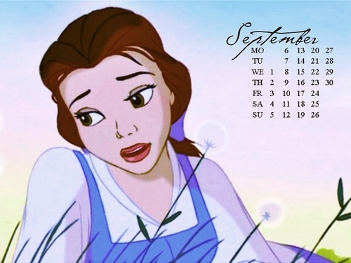 Belle - September - disney-princess Fan Art