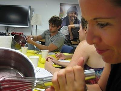 Blake & Chace making ice-cream!