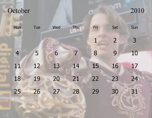 Calender of the months ahead