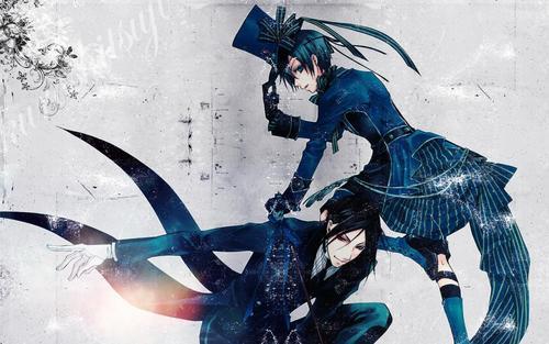 Kuroshitsuji achtergrond called Ciel and Sebastian