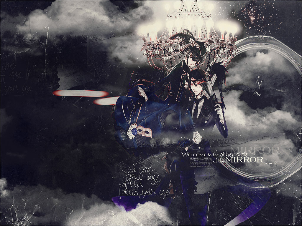 Ciel and Sebastian - kuroshitsuji wallpaper