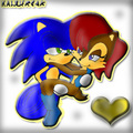 Colored Sally Acorn and Sonic