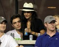 Ed Westwick and Jessica Szohr at the US Open (September 1) - celebrity-couples photo