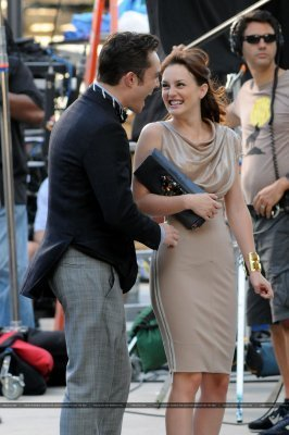 Ed and Leighton on set August 31