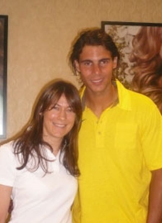 For the 2008 US Open, Julien Farel created an onsite luxurious salon experience.2008