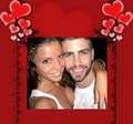 Gerard Pique and his girlfriend Nuria