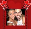 Gerard Pique and his girlfriend Nuria