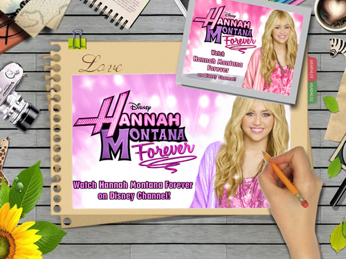 Hannah Montana Forever FRAME VERSION wallpaper as a part of 100 days of hannah!!! - hannah-montana Wallpaper