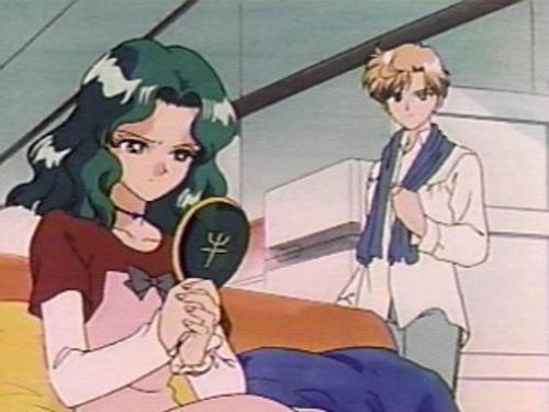 Sailor Uranus and Sailor Neptune karatasi la kupamba ukuta with anime entitled HaruMichi