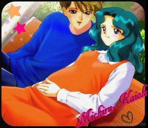Sailor Uranus and Sailor Neptune karatasi la kupamba ukuta containing anime called HaruMichi