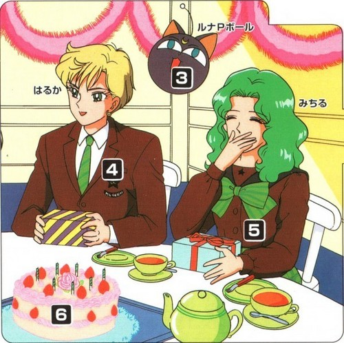 Sailor Uranus and Sailor Neptune karatasi la kupamba ukuta containing anime titled HarukaMichiru
