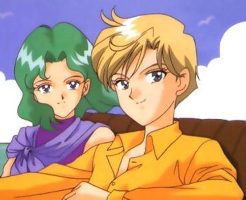 Sailor Uranus and Sailor Neptune karatasi la kupamba ukuta containing anime titled HarukaMichiru