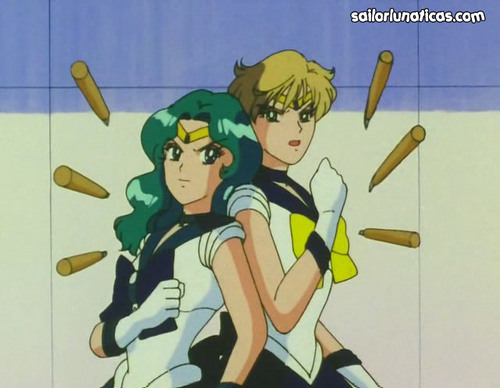 Sailor Uranus and Sailor Neptune karatasi la kupamba ukuta containing anime entitled HarukaMichiru