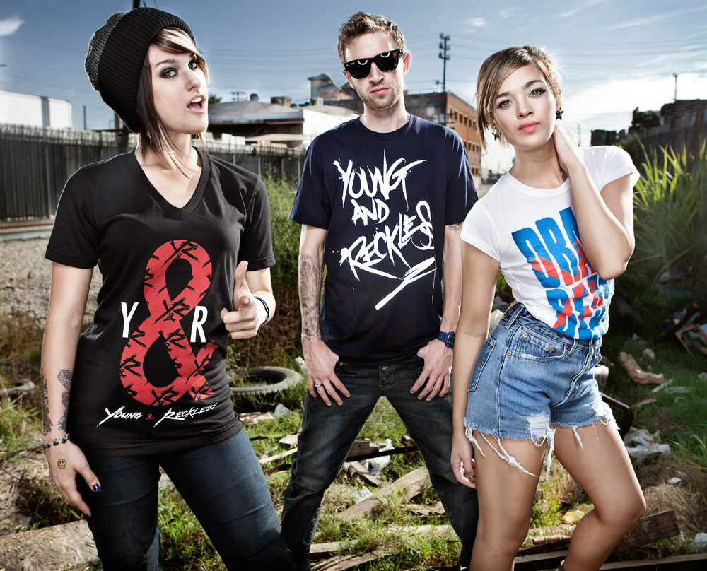 machine gun clothing line and reckless
