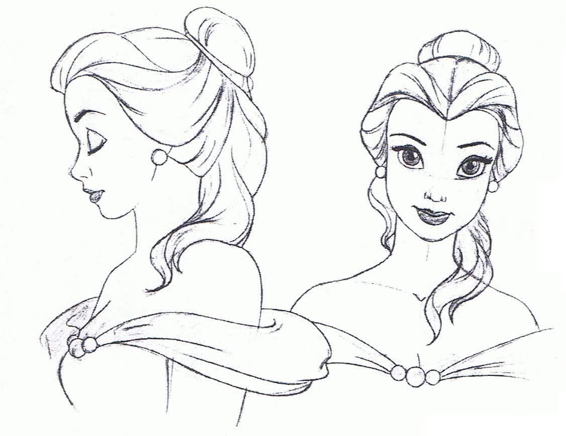 Disney Princess Belle Drawings