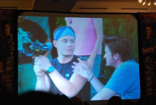 Jensen on set 6.04 - directing episode