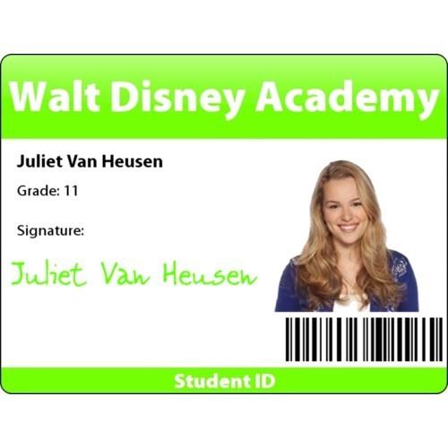 Juliet وین Heusen's Student ID