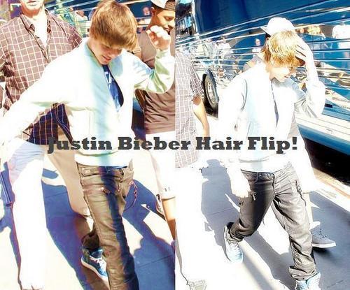 Justin Bieber Hair Flip! #bieberfactor