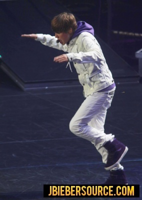Justin performing at Madison Square Garden