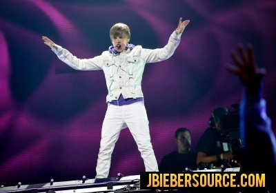 Justin performing in Madison Square Garden