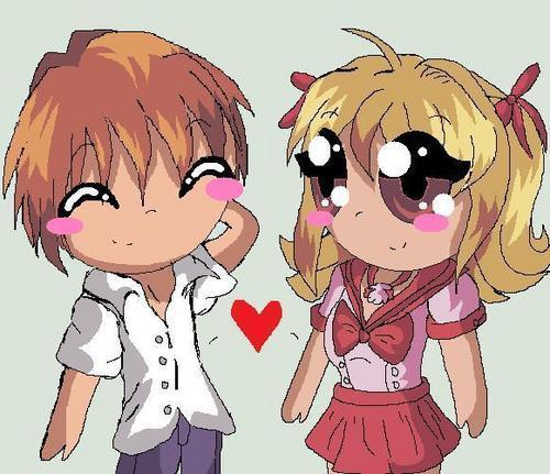 Kaito & Luchia Chibi it tình yêu