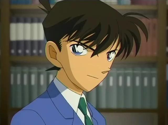 Shinichi reprenant une phrase de Conan Doyle