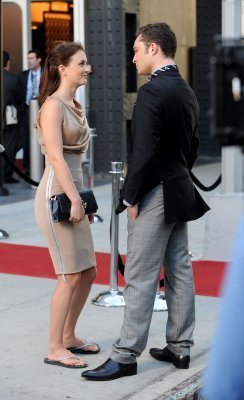 Leighton and Ed on the Gossip Girl set August 31