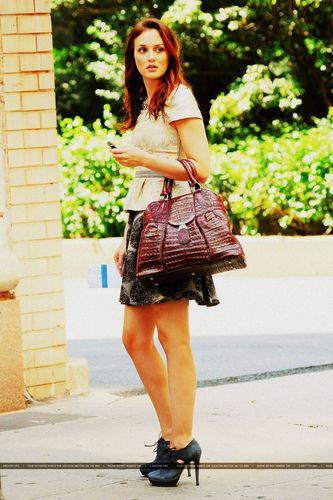 Leighton on set, looking beautiful <3