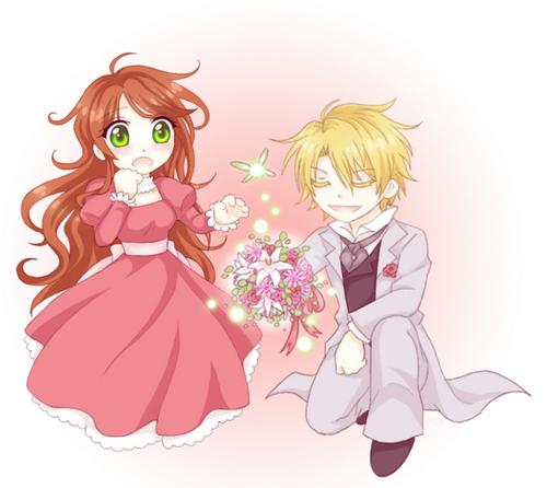 Lydia and Edgar chibi