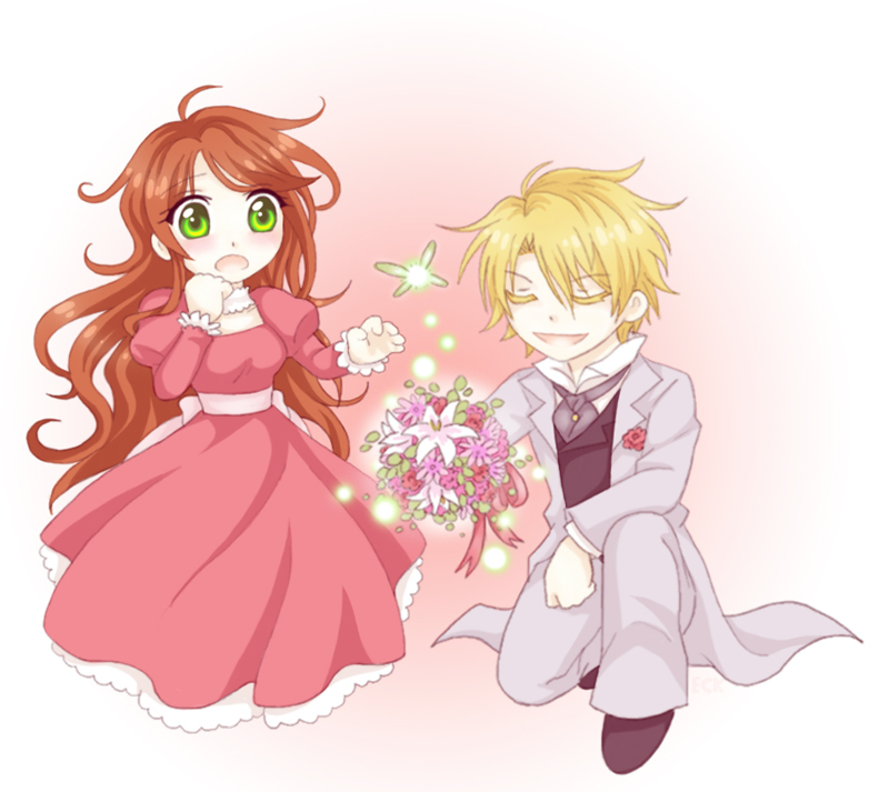 cute anime chibi couples. Lydia and Edgar Chibi
