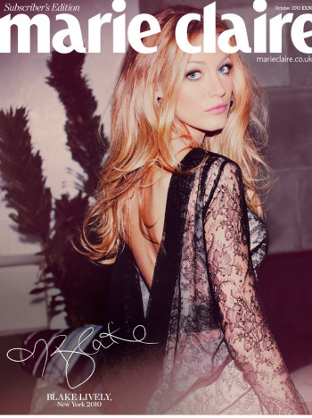 Blake Lively wallpaper possibly with a portrait titled Marie Claire UK2010
