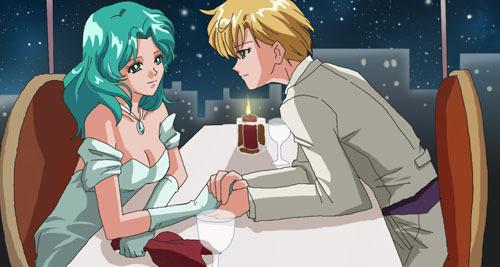 Sailor Uranus and Sailor Neptune karatasi la kupamba ukuta containing anime titled Michiharuka
