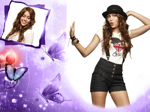 Miley Cyrus FRAME VERSION 壁紙 as a part of 100 days of hannah!!!