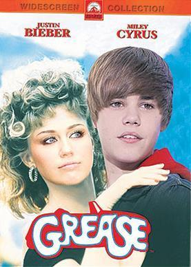 Miley Cyrus with Justin Bieber 'Grease'