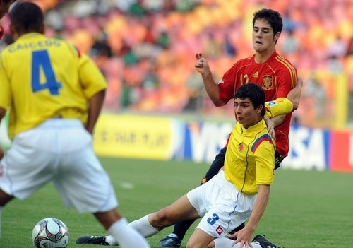 Morata playing with Spain U17 &Castilla
