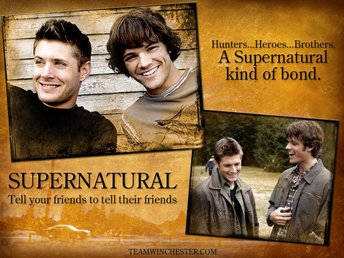 Supernatural wallpaper with a guillotine, a packing box, and a sign titled My baby's :)