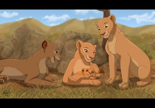 the lion king wallpaper with anime entitled Nala,Sarabi,Sarafina&Kiara