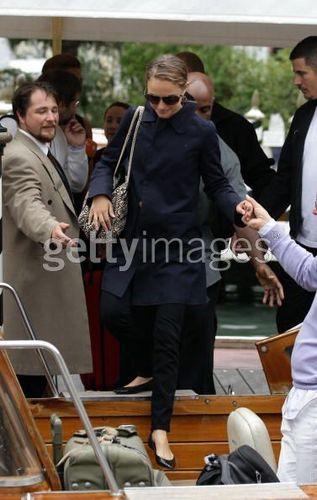 Natalie leaving the 67th Venice Film Festival