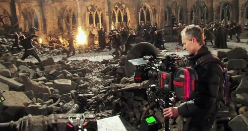 New pic of behind the scenes Deathly HallowsHogwarts Battle