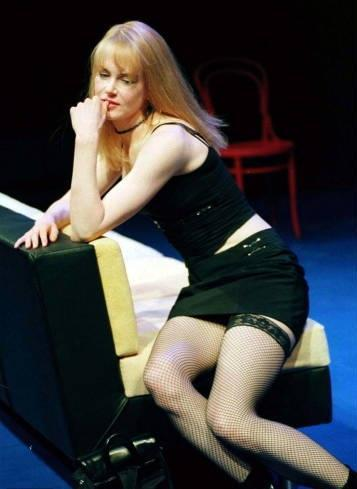 Nicole Kidman wallpaper probably containing bare legs and tights called Nicole Kidman on stage in The Blue Room
