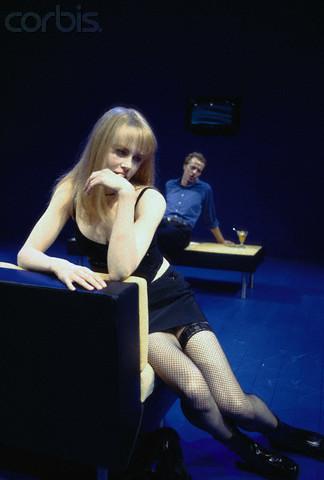 니콜 키드먼 바탕화면 probably containing bare legs and a leotard called Nicole Kidman on stage in The Blue Room